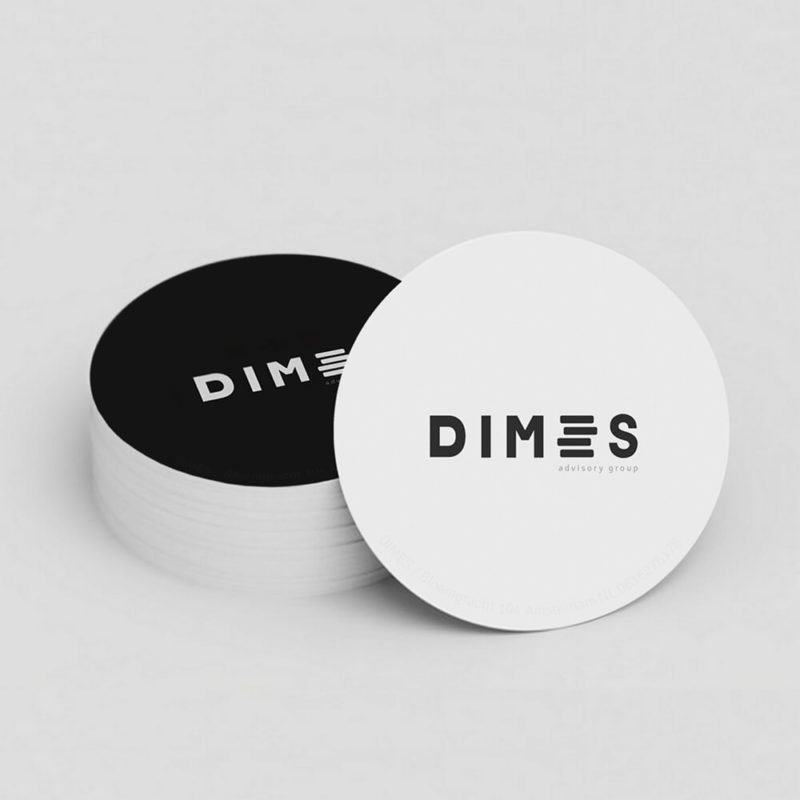 visit card design logo dimes