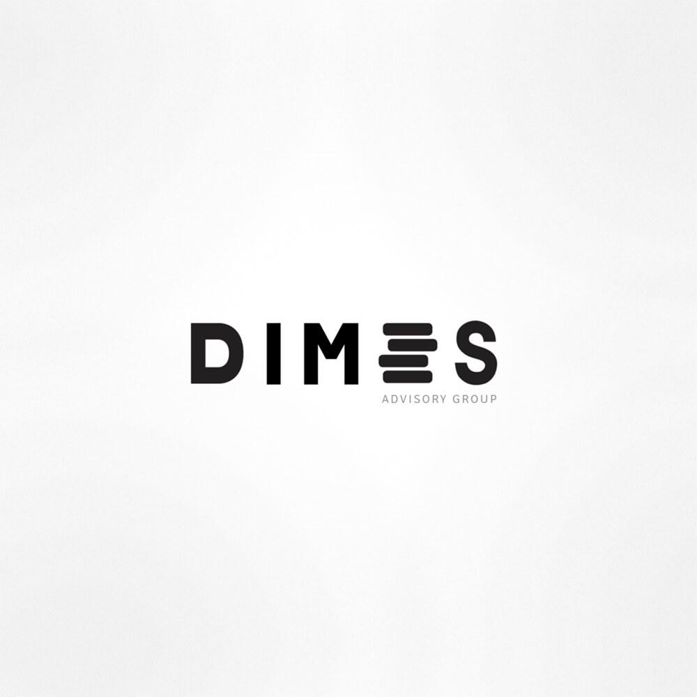 logo dimes black white background